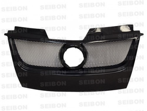 TB-style carbon fibre front grille for 2006-2009 Volkswagen Golf GTI (w/Emblem)