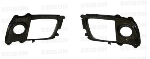Carbon fibre fog light surround for 2008-2012 Mitsubishi Lancer EVO X