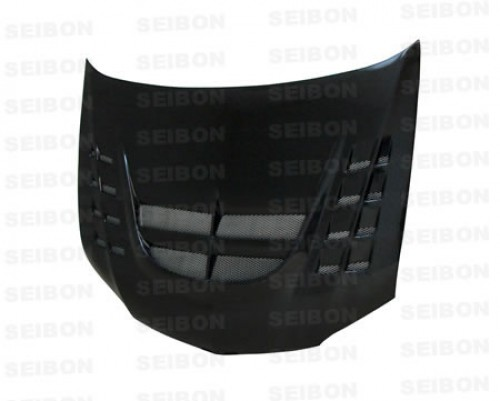CWII-style carbon fibre bonnet for 2003-2007 Mitsubishi Lancer EVO