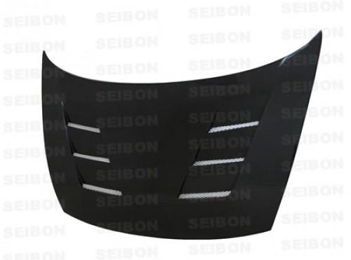 TS-style carbon fibre bonnet for 2006-2010 Honda Civic 4DR