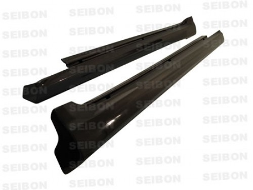 TS-style carbon fibre side skirts for 2006-2010 Lexus IS250/350 4DR