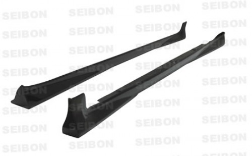 OEM-style carbon fibre side skirts for 2007-2008 Toyota Yaris Liftback