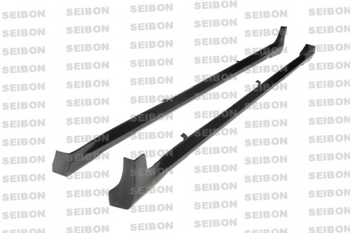 NS-style carbon fibre side skirts for 2008-2009 Infiniti G37 4DR