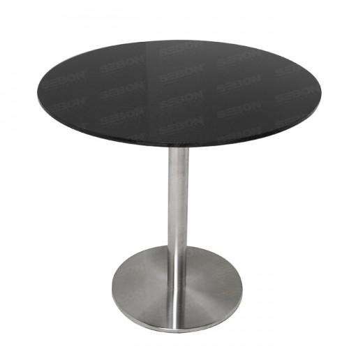 """Carbon fibre Circular Table 31.5"""" x 30""""H"""