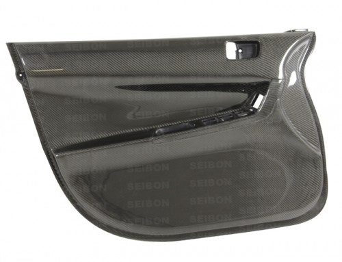 Carbon fibre front door panels for 2008-2012 Mitsubishi Lancer EVO X