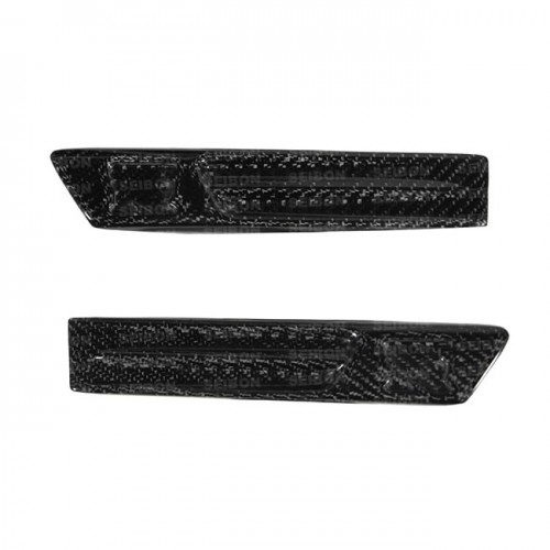 Carbon fibre guard duct logo for 2009-2010 Nissan GTR