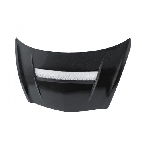 VSII-Style Carbon fibre bonnet for 2007-2008 Honda Fit (Straight Weave)