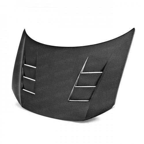 TS-Style Carbon fibre bonnet for 2013-2015 Honda Civic 4DR