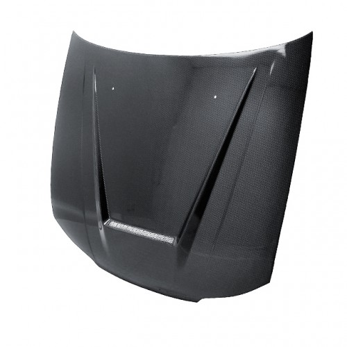 VSII-STYLE CARBON FIBRE BONNET FOR 1999-2002 NISSAN 200SX - Straight Weave