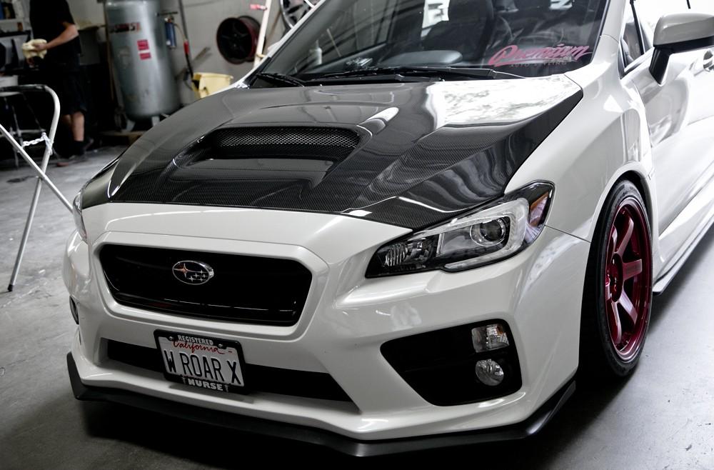 Oem Style Carbon Fibre Bonnet For 2015 2019 Subaru Wrx Sti