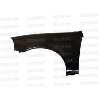 OEM-STYLE CARBON FIBRE GUARDS FOR 1996-1998 HONDA CIVIC - Straight Weave