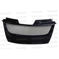 TD-STYLE CARBON FIBRE FRONT GRILLE FOR 2006-2009 VOLKSWAGEN GOLF GTI (Shaved)
