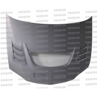 CW-style DRY CARBON ..bonnet for 2003-2007 Mitsubishi Lancer EVO..*ALL DRY CARBON PRODUCTS ARE MATTE FINISH!