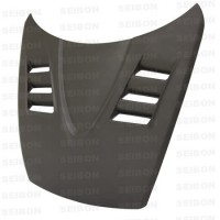 TS-style DRY CARBON bonnet for 2004-2008 Mazda RX8..*ALL DRY CARBON PRODUCTS ARE MATTE FINISH!