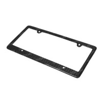 CARBON FIBRE LICENSE PLATE FRAME - 4-hole