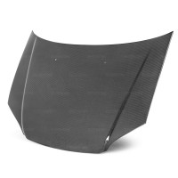 OEM-STYLE CARBON FIBRE BONNET FOR 2001-2003 HONDA CIVIC - Straight Weave (Shaved)