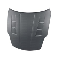 TS-style DRY CARBON bonnet for 2002-2006 Nissan 350Z..*ALL DRY CARBON PRODUCTS ARE MATTE FINISH!