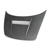 VSII-style carbon fibre bonnet for 2006-2010 Honda Civic 2DR (Matte Finish)