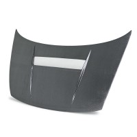 VSII-style silver string carbon bonnet for 2006-2010 Honda Civic 2DR