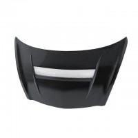 VSII-Style Carbon fibre bonnet for 2007-2008 Honda Fit (Straight Weave)
